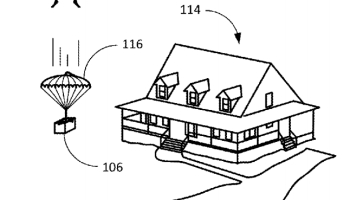 Amazon patents shipping label with built-in parachute for dropping packages from drones