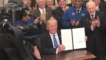 President Trump signs his executive order to reactivate the National Space Council