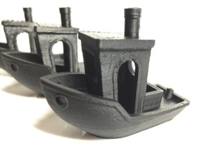 A series of boaty prints from the BuildOne 3D printer