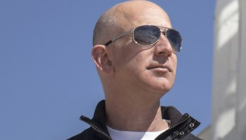 Prime shape: Buff Bezos flexes his muscles at elite Sun Valley getaway