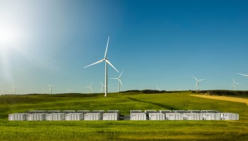 Tesla battery system and wind farm