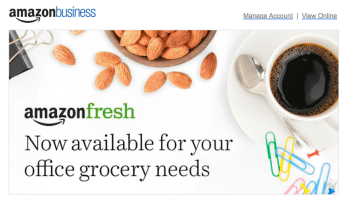 Amazon rolls out AmazonFresh grocery delivery service for business customers