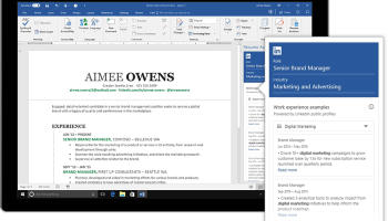 Microsoft's new Resume Assistant uses LinkedIn data to help people write better resumes in Word