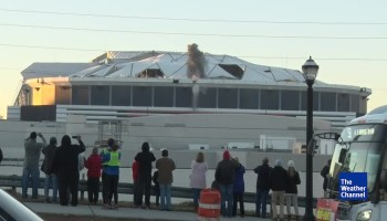 Cloudy with a chance of F-bombs: Bus blocks Weather Channel's video of Atlanta dome implosion
