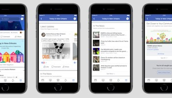 Facebook launches local news section in Olympia, Wash., and 5 other cities