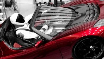 Starman in sports car