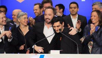Dropbox soars almost 50 percent in its stock-market debut, closes up 35 percent