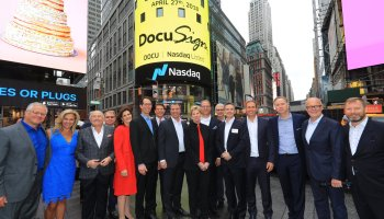 DocuSign stock spikes as digital signature giant shines in first quarter as a public company
