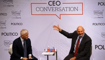 Former Microsoft CEO Steve Ballmer to U.S. politicians: 'Shame on you' if you ignore data