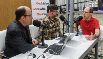 GeekWire Podcast, Live at Build: Cloud, AI and mixed reality with Microsoft's Scott Guthrie and Lorraine Bardeen
