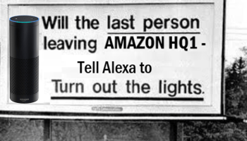 New sign of the times? Imagining a modern version of Seattle's iconic 'turn out the lights' billboard