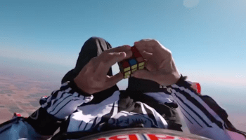 Video: Are you a Rubik's Cube geek? Try jumping out of an airplane and solving one in free fall