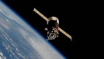 Russian cargo ship sets a new record for same-day delivery to space station
