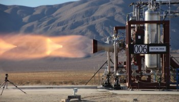Launch abort engine test