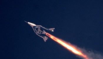 Virgin Galactic rocket firing