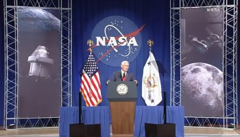 VP Mike Pence revs up NASA schedule for putting astronauts on station in lunar orbit