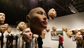A nerd's tour of the Seattle Art Fair: Fighting robots, animated neurons, and flying art debris