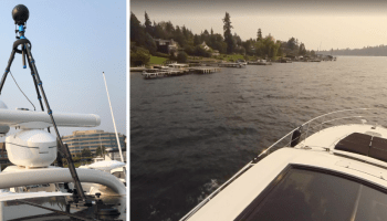 A ripple in Google Street View: 360-degree camera on a boat captures Bill Gates' mansion and more