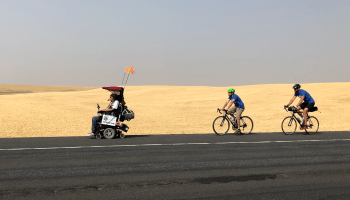 Quadriplegic man keeps on riding, using tech to enable 475-mile trip across state