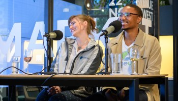 GeekWire Podcast at Columbia Bank Neighborhub – Kwame Boler & Ca
