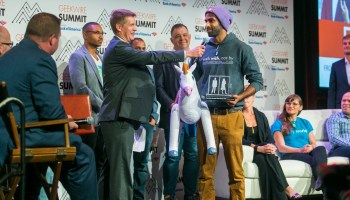 Elevator Pitch finalists take stage at GeekWire Summit and a champion rises to the top
