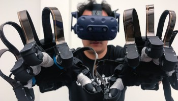 HaptX debuts new version of high-tech haptic virtual reality gloves at GeekWire Summit