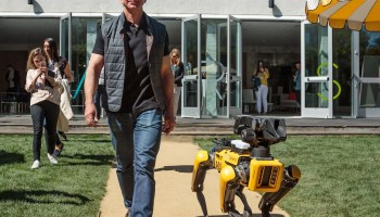 Jeff Bezos and robot dog
