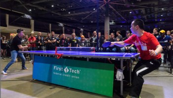 Round trip Alaska Airlines tickets up for grabs in next week's GeekWire Bash ping pong tournaments