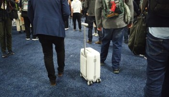 Self-driving suitcases and beer-tracking fridges among the wacky products at CES media expo