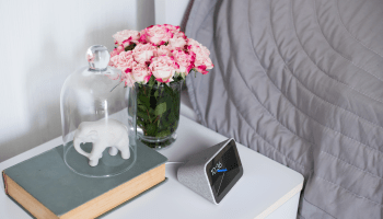 This voice-activated alarm clock from Lenovo is Google's answer to Amazon's Echo Spot