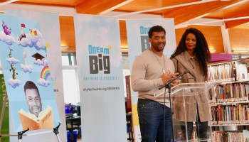 Russell Wilson and Ciara 'Dream Big' with new library initiative, scholarship and goals in tech