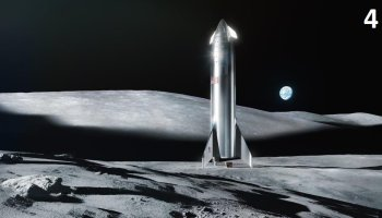 Starship on the moon