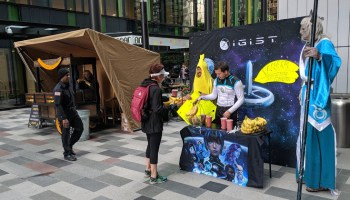 Banana standoff at Amazon used to promote 'IGIST,' a sci-fi novel and app created by Axon president