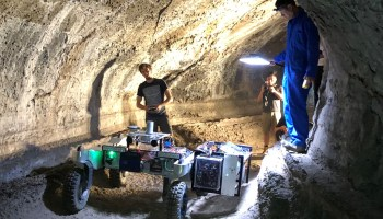 Rover teams practice for spelunking on the moon and Mars in California lava tubes