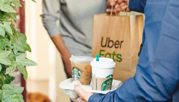 Starbucks expanding menu delivery service across the U.S. in new agreement with Uber Eats