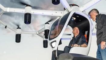 Jeff Bezos in Lift's Hexa ultralight