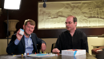 Ken Jennings and Richard Garfield with their new trivia game