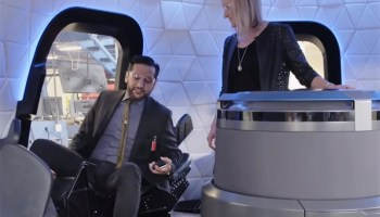 Cas Anvar in New Shepard capsule