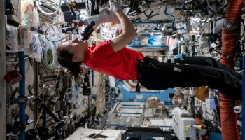 Christina Koch on space station
