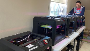 With high school's 3D printers in his house, student runs mask production line for Seattle-area hospitals