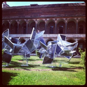 Most up-to-date: Akihisa Hirata's Photosynthesis installation with Panasonic (tree-like solar panels won't distroy agricultural fields and maximize power supplì @ Interni Legacy, Università Statale