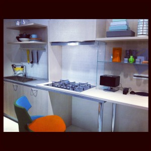 Cleverest affordable kitchen - Sandolino by Andrea Branzi for Veneta Cucine @ EuroCucina