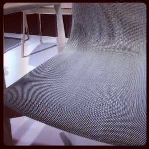 Most elegant fabric on wood - Malmo chair by Michele Cazzaniga, Simone Mandelli, Antonio Pagliarulo for Pedrali @ iSaloni