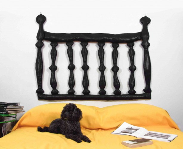 black with dog
