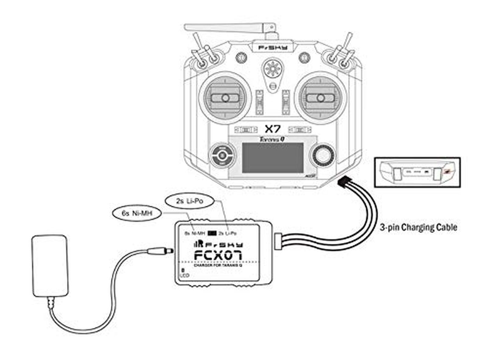 Frsky Fcx07 Charger Amp Mah Nimh Battery Combo Kit For Q