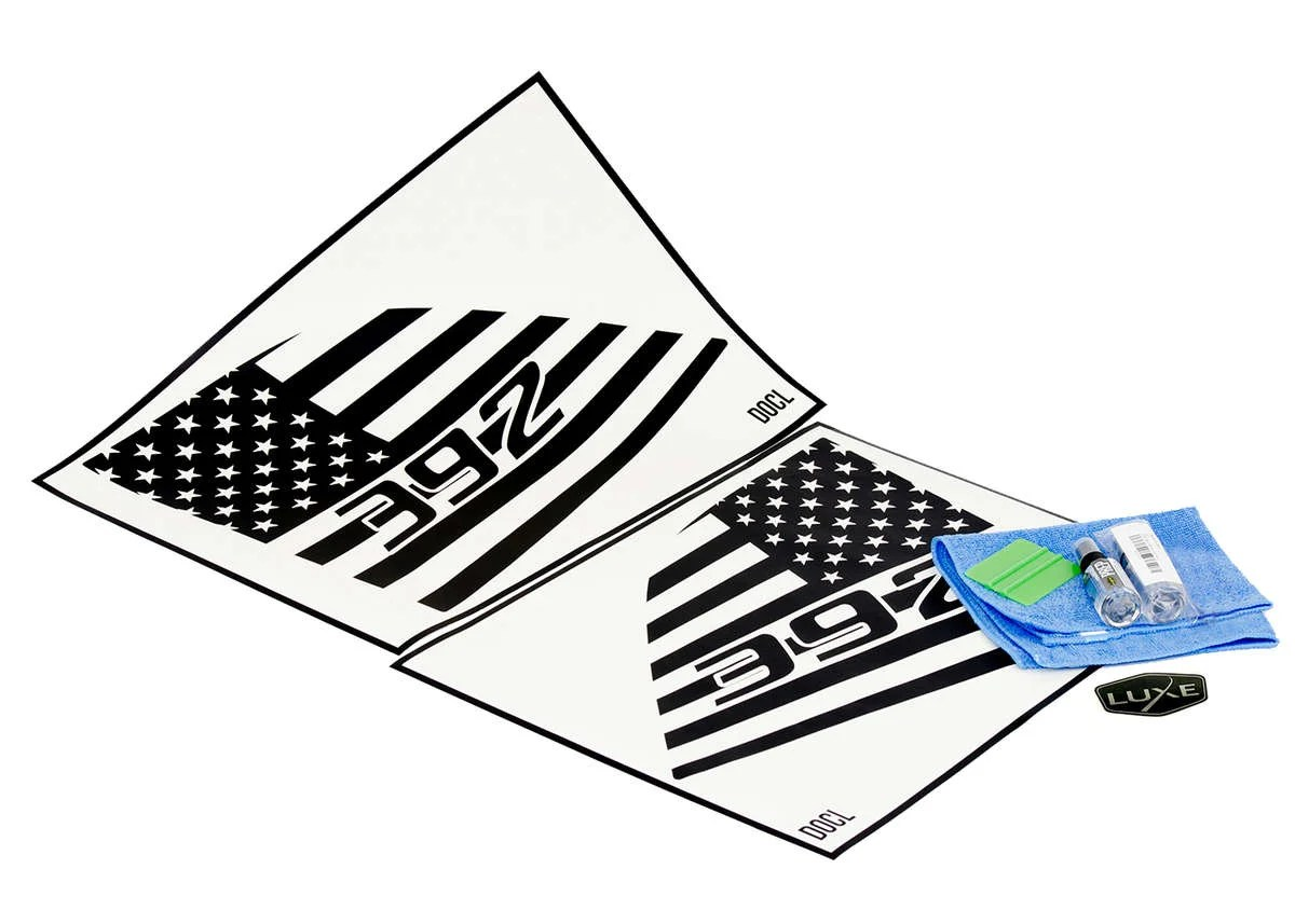 Challenger Rear Side Window Flag Decal
