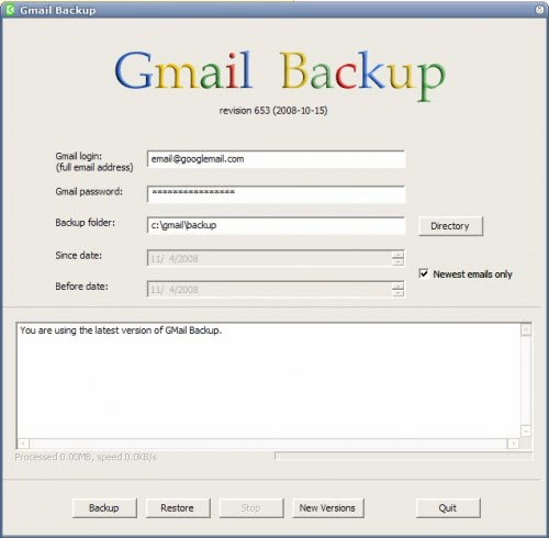 how to get backup of gmail account