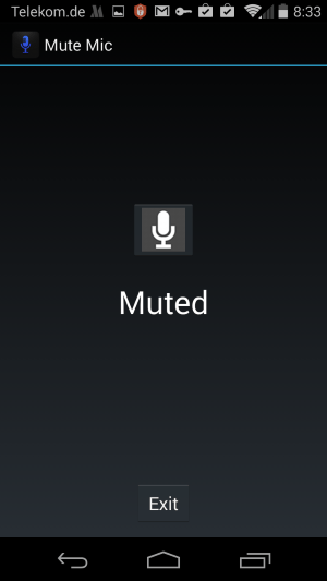 mute mic android