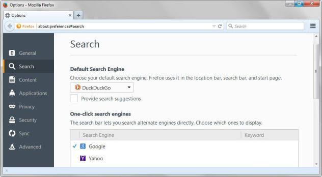 firefox search preferences