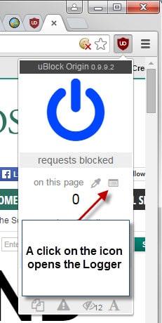 ublock origin logger
